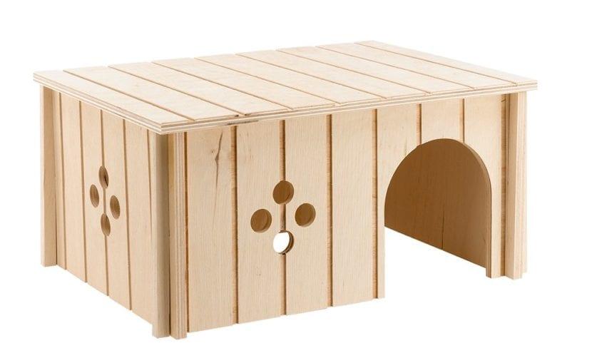 Modelo de casa de madera para conejos pequeños
