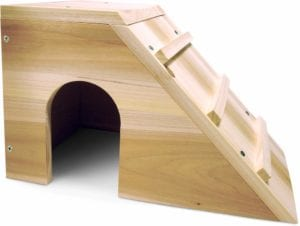 Modelo de casita de madera para conejos